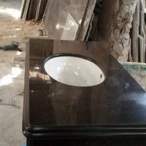 đá ốp lavabo màu đen kim sa trung