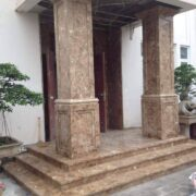 đá marble nâu tây ban nha ốp mặt tiền