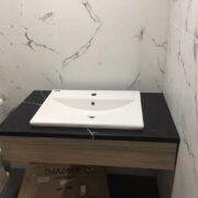 Đá đen tia chớp ốp lavabo – mã số 14