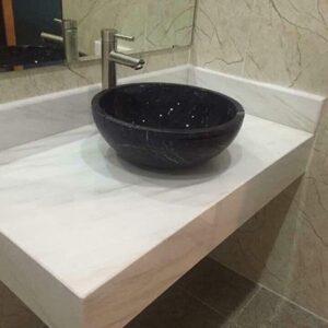 Đá ốp lavabo màu trắng – mã số 03