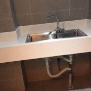Đá nhân tạo trắng sứ dẻo ốp lavabo – mã số 07